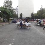 Les Fontaines pendant les Quartiers d'été, le 28 juillet 2017.