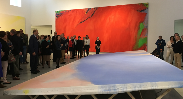 """Vernissage de l'exposition """"Les Nymphéas d'Olivier Debré"""" vendredi 4 mai 2018 au CCCOD de Tours."""