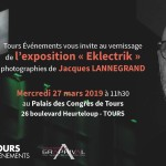 Invitation vernissage Exposition Eklectril - Jacques Lannegrand