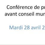 conf de presse Conseil Municipal Ville de Tours - 28042020