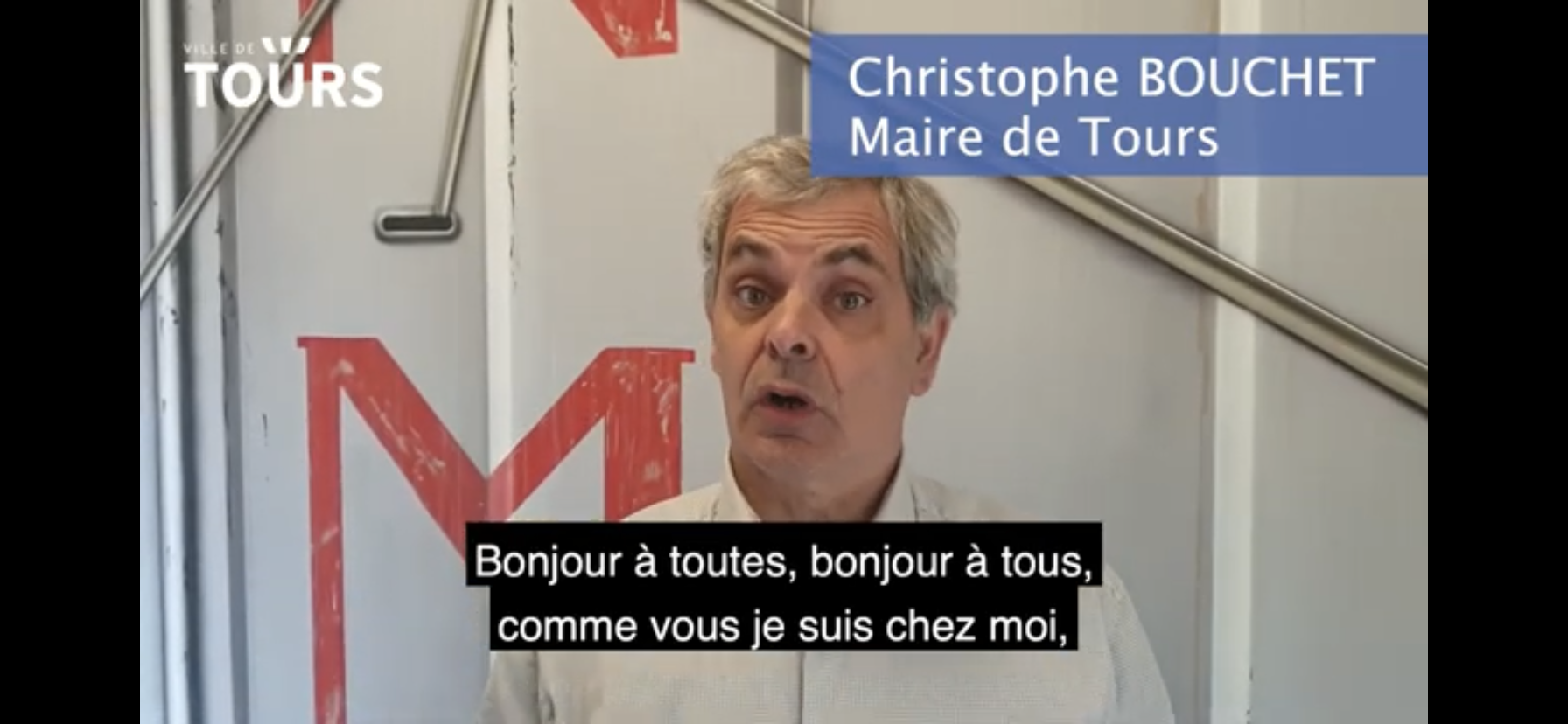 (CITERADIO) Point de situation Covid-19 du 2 mai 2020 par le Maire de Tours, Christophe Bouchet